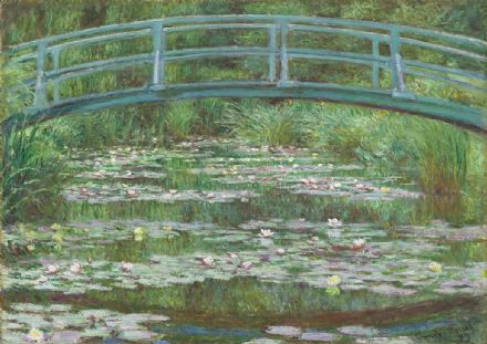 Monet, Claude: The Japanese Footbridge. Fine Art Print/Poster. Sizes: A4/A3/A2/A1 (003536)